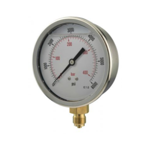 100mm pressure gauge bottom entry
