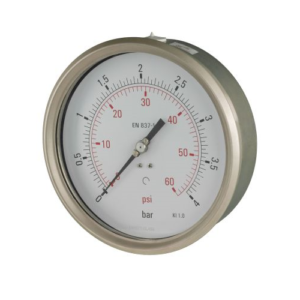 160mm pressure gauge lower back entry