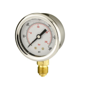 50mm pressure gauge bottom entry